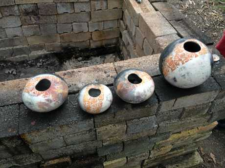 The Mud Trail is on this weekend, highlighting the ancient art of pot making. Ann's Pots pictured here.