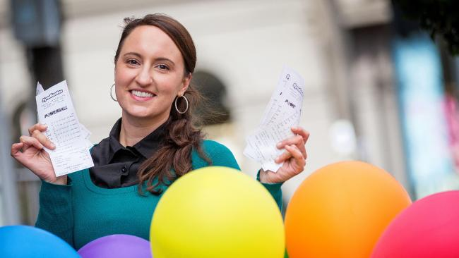 AUSTRALIANS are queing up for a chance to win today's life-changing $100 million Powerball draw.