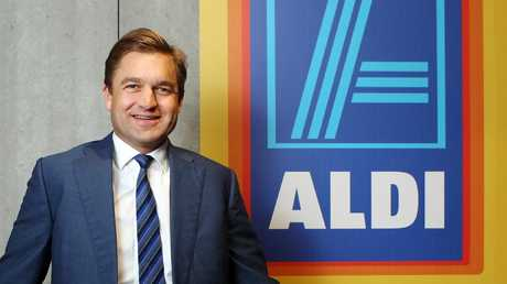 Aldi CEO Tom Daunt said the company was striving to be more open about its operations. Picture: Hollie Adams.
