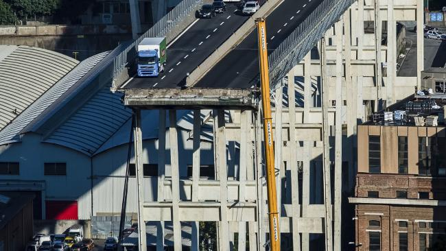 Victims have been named after the Genoa bridge collapse. Picture: Nicola Marfisi