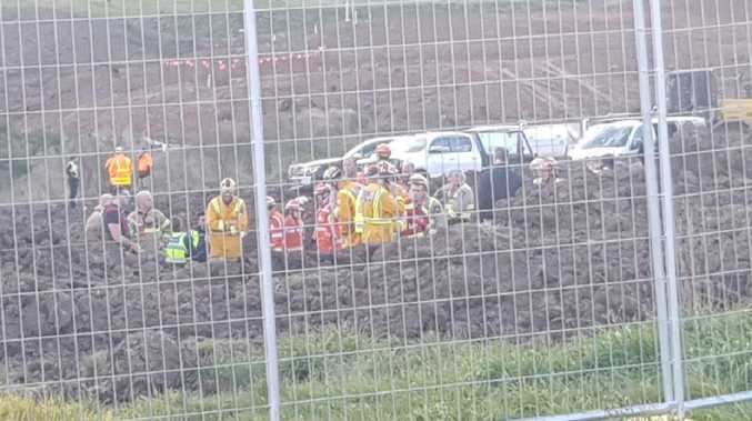 Worker dies after becoming stuck in construction trench. Source: TenNews Melbourne