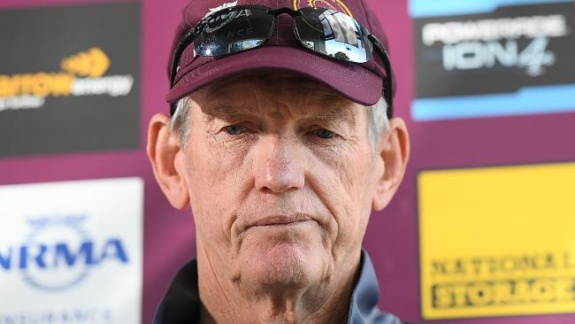 Brisbane Broncos coach Wayne Bennett will be replaced by. Picture: AAP Image/Albert Perez