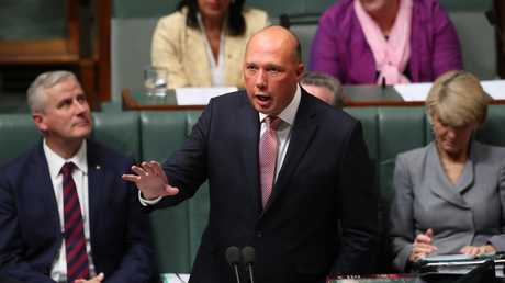Home Affairs Minister Peter Dutton refused to publicly criticise the Prime Minister's energy stance on Thursday. Picture: Kym Smith