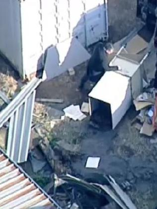 A man has been charged with murder after human remains were found in Oakleigh South. Picture: 9 News
