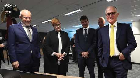 PM Malcolm Turnbull at the Opening of the Australian Cyber Security Centre on Thursday. Picture Kym Smith