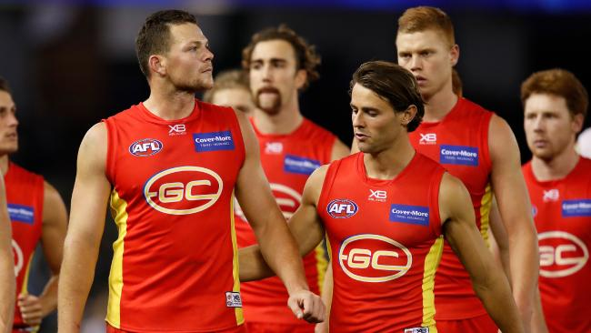 The Suns have been labelled soft ahead of the QClash against the Lions. (Photo by Adam Trafford/AFL Media/Getty Images)