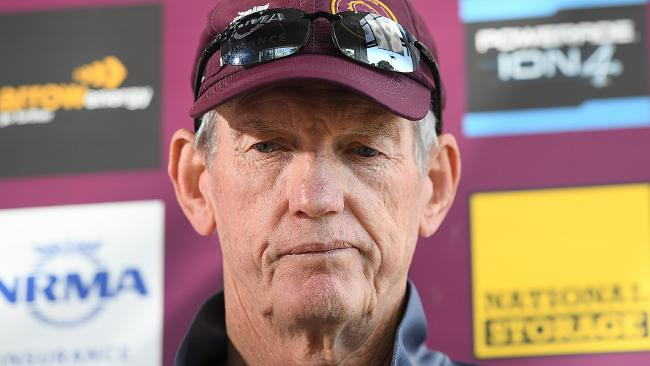 Wayne Bennett has been at loggerheads with the Broncos over his future. Picture: AAP Image/Albert Perez