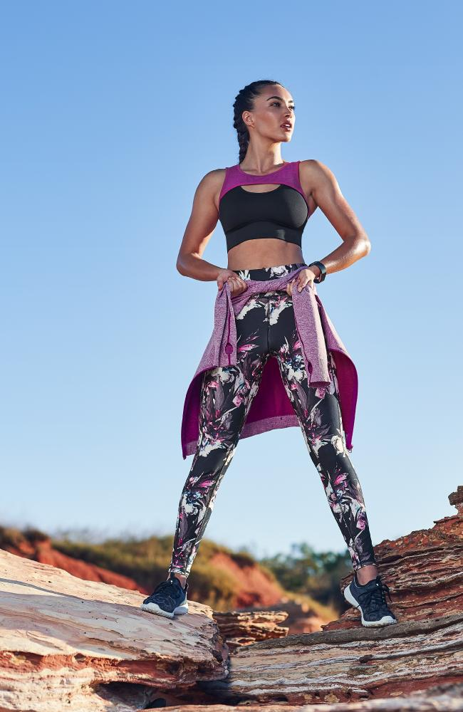 The leggings in 'floral shard' design.