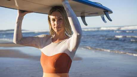 Lennox Head surfer Clare Southwell expressed concern about shark activity at Seven Mile Beach last year. Picture: Natalie Grono