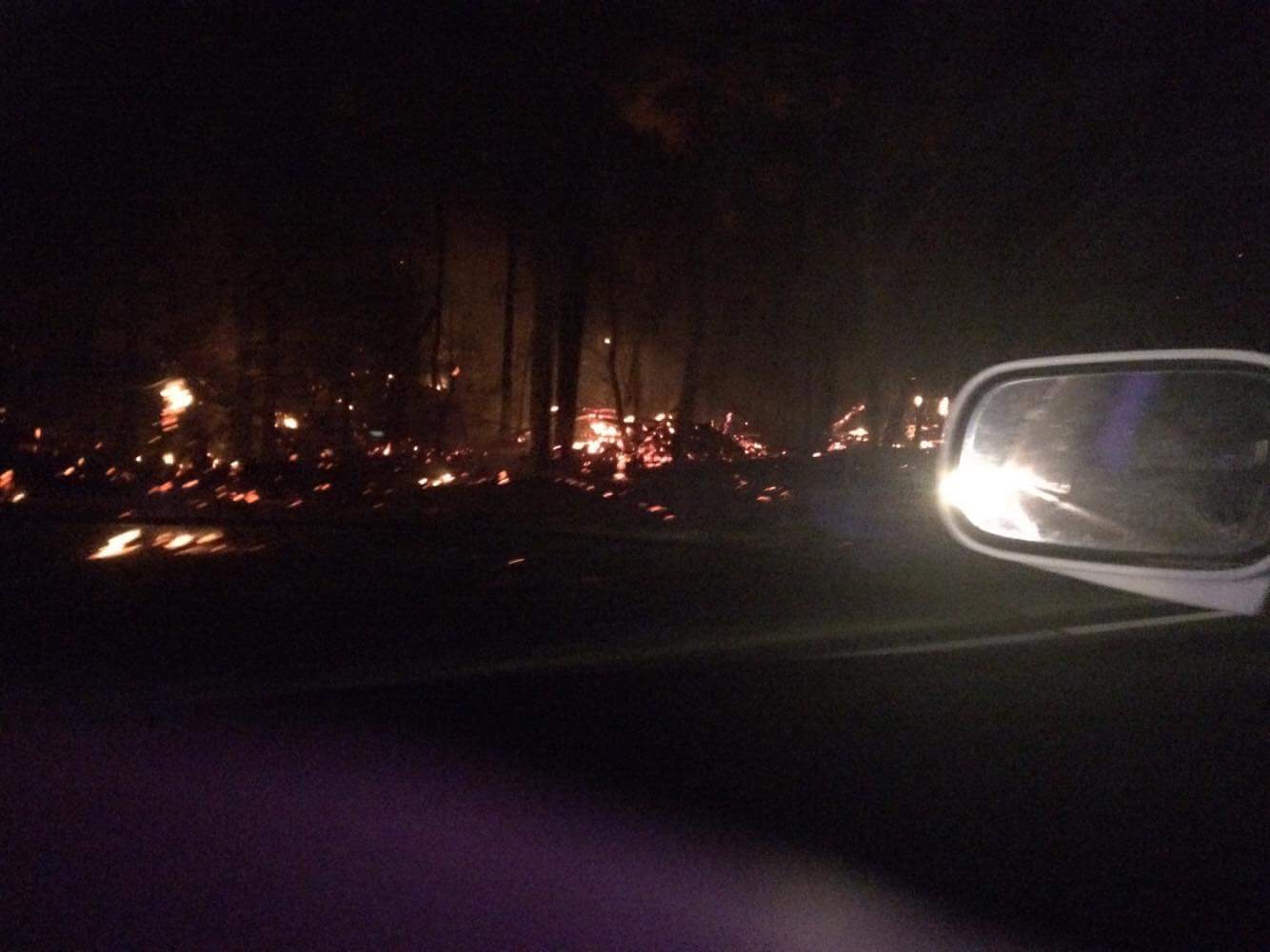 An out-of-control grassfire threatened property and closed the Gwydir Highway near Eatonsville.