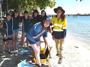 HEALTH TEST: Water quality testing is done on Noosa