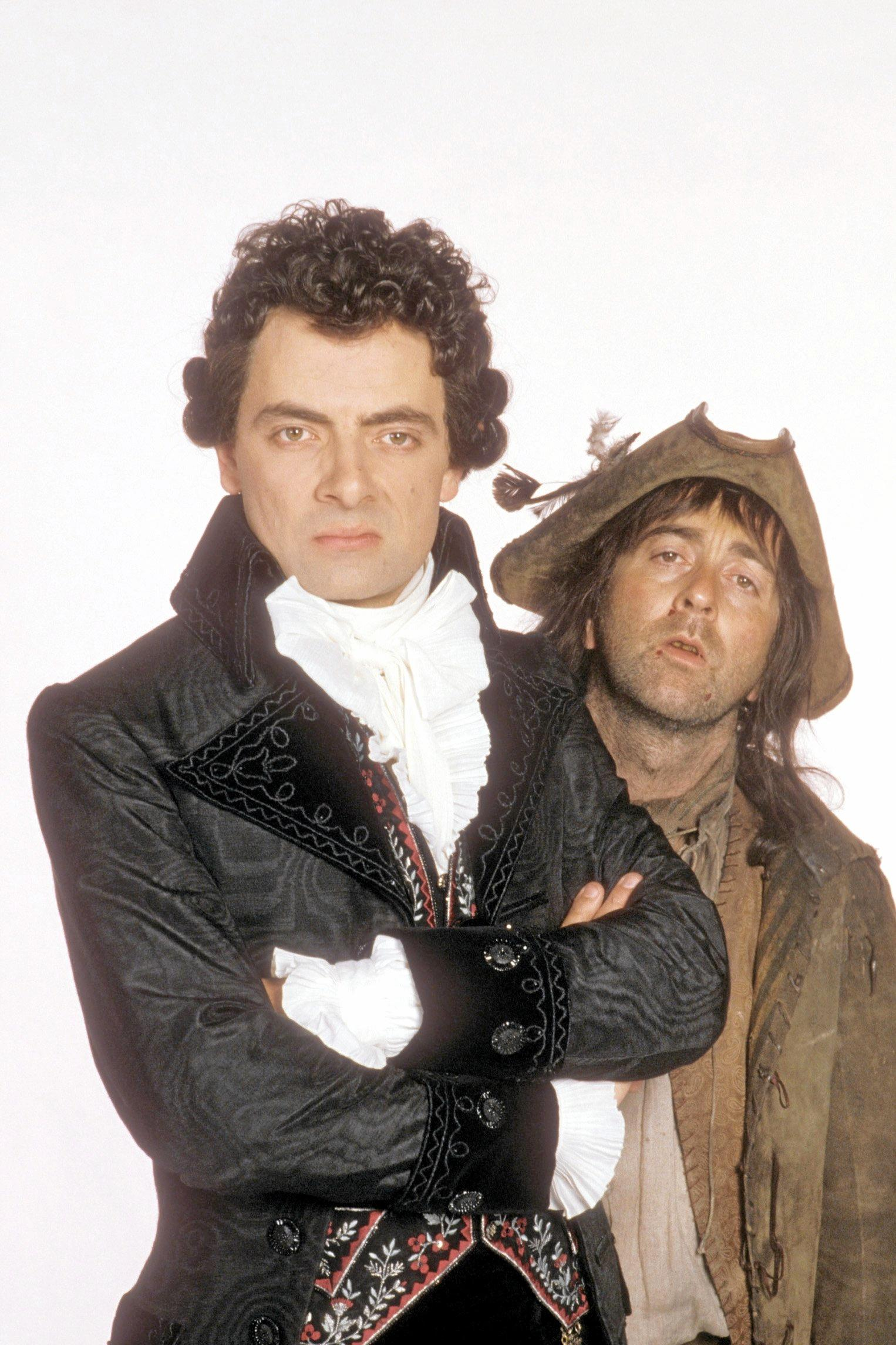 Rowan Atkinson and Tony Robinson from BlackAdder.