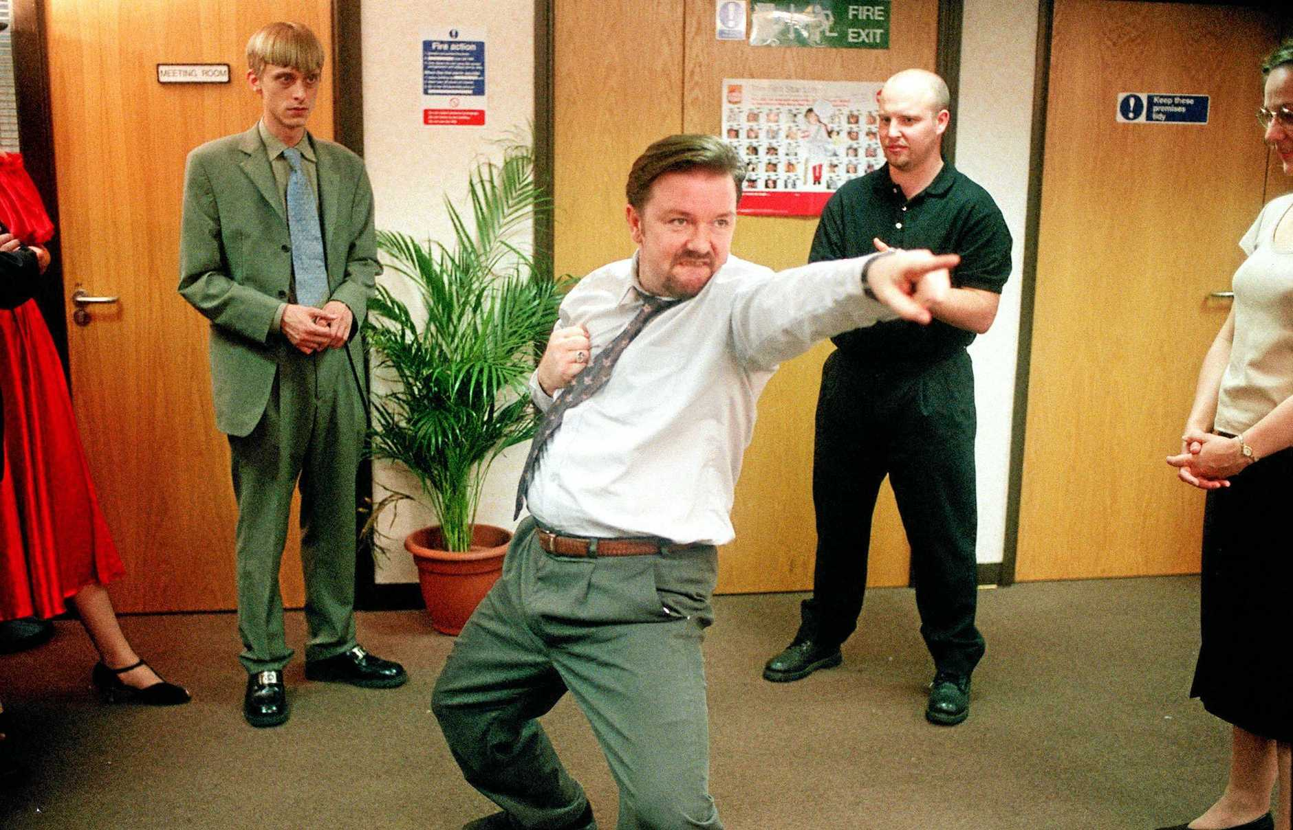 Ricky Gervais as David Brent in The Office.