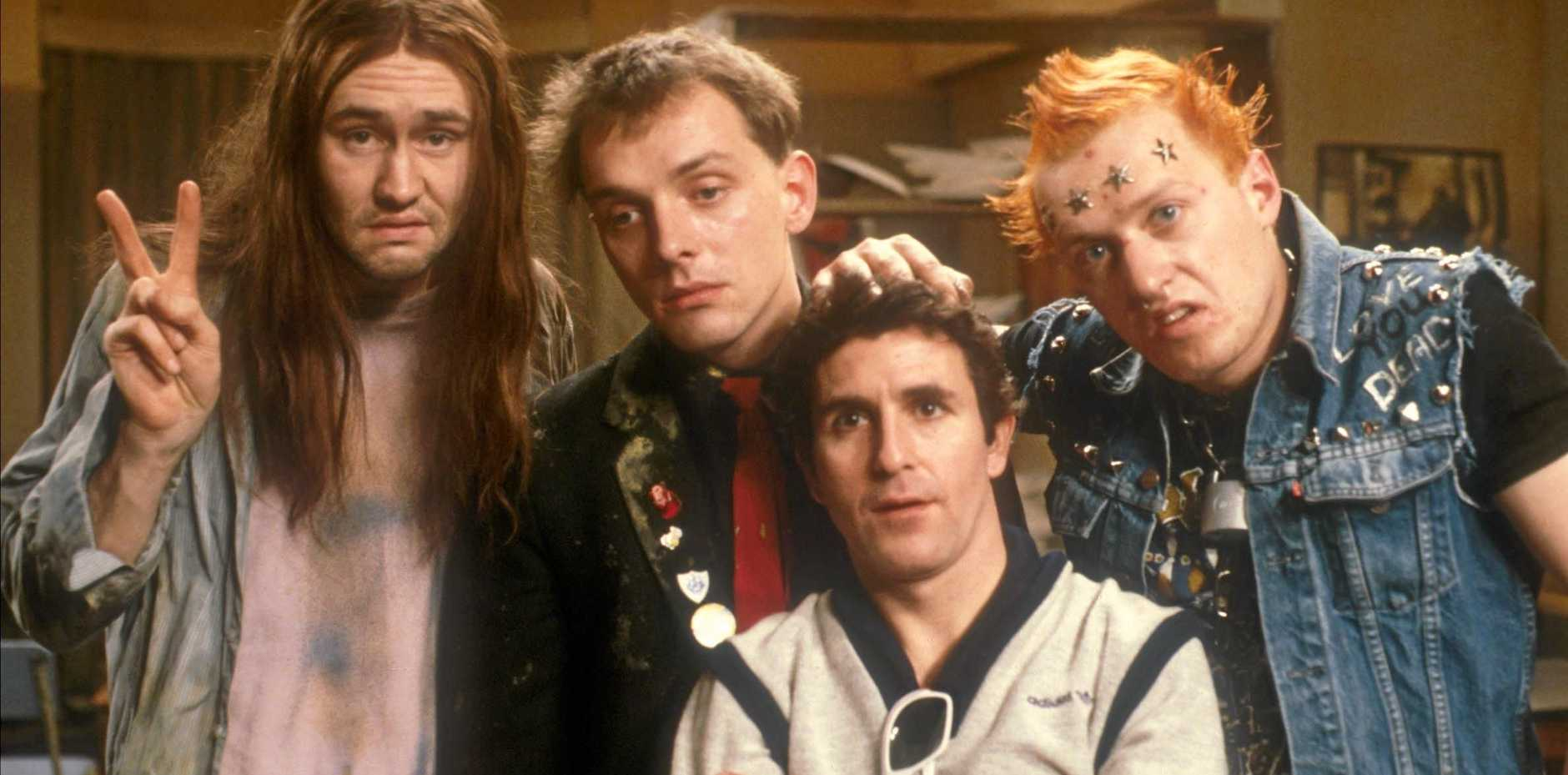 Neil, Rik, Mike and Vyvyan from The Young Ones