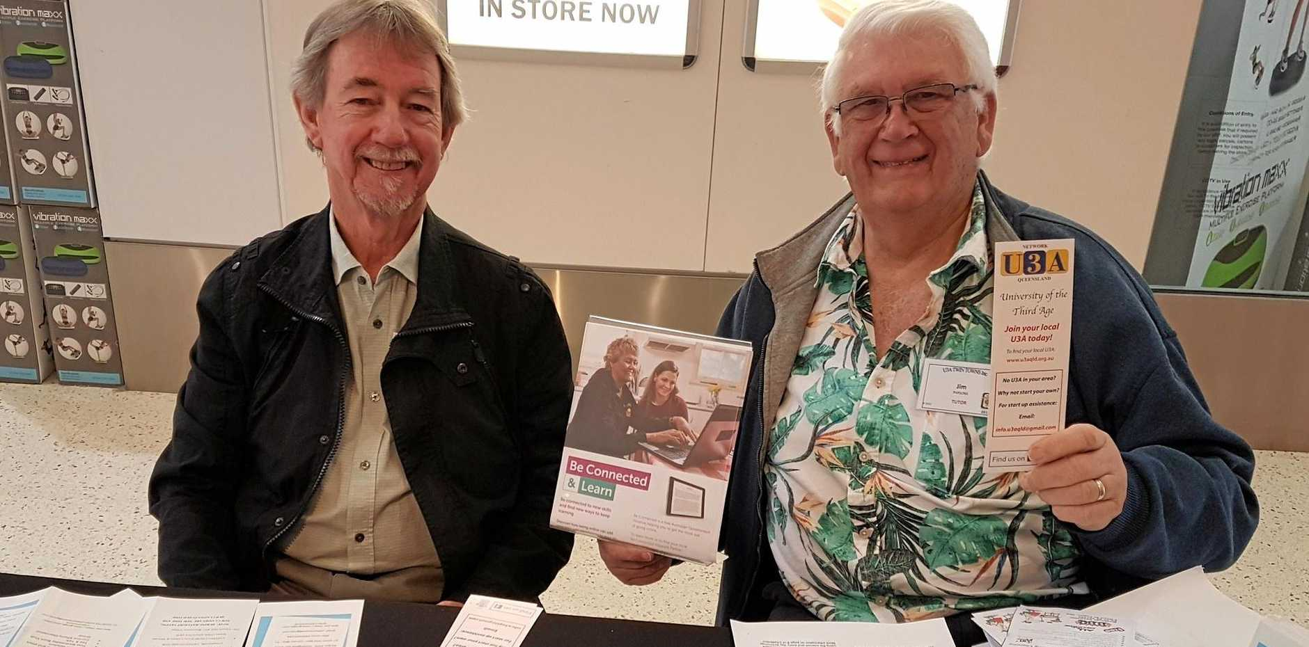 Members of U3A Twin Towns, Author and Educator Jim Parsons and public speaker and tutor Dennis Wallis were busy organising a free barbecue, sponsored by COTA. For details, phone (07) 5534 7333 or email u3a1office@gmail.com.