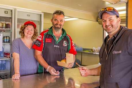 The Eumundi Dragon's canteen raising money for Aussie farmers last weekend.