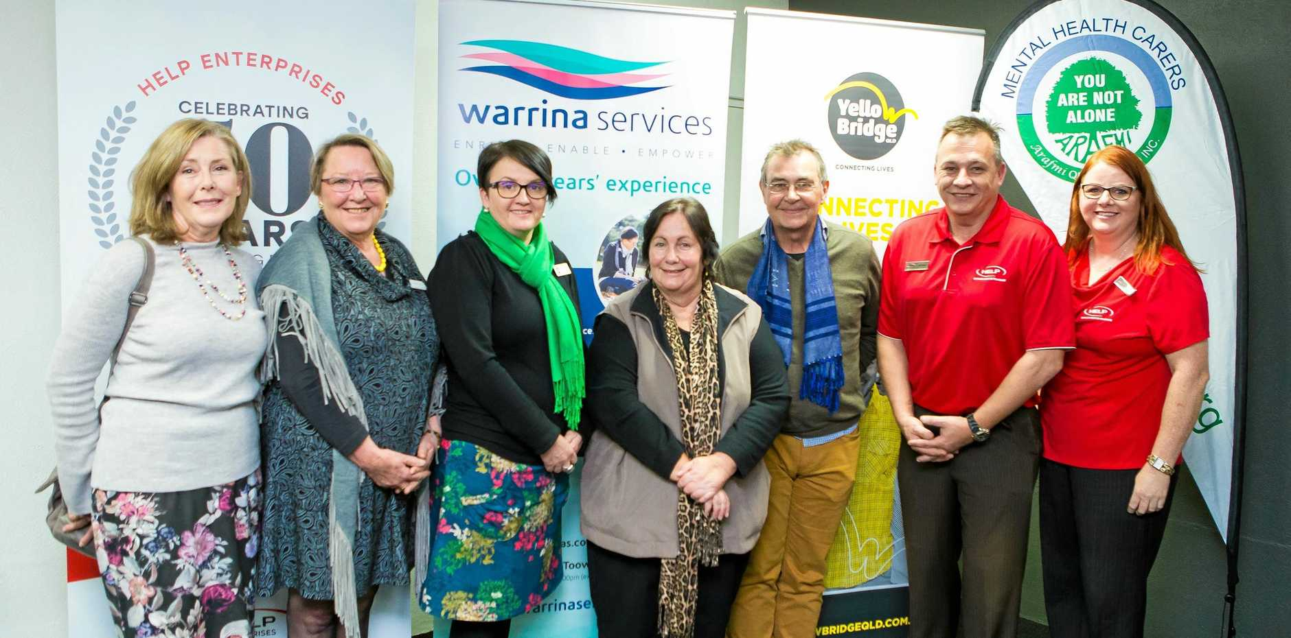 AWARD SUPPORT: Business DisABILITY Awards event partners (from left) Lyndel Bunter, Penny Hamilton, Jodie Collins, Nerida Luck, Mark Setchfield, Kevin Beach and Mandy Maybanks.