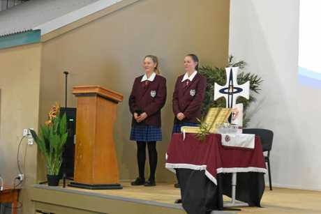 St. John's prefects, Hannah Hughes & Sarah Hall.