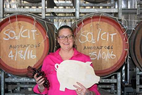 Kingsley Grove Estate's Jo Berry prepares for BaconFest.