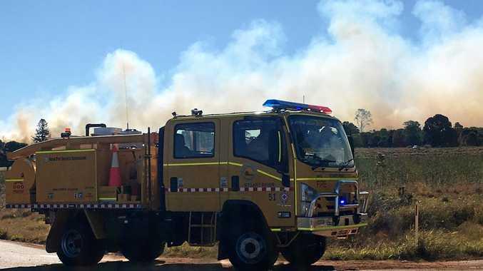 14 crews on scene at Kingaroy bushfire