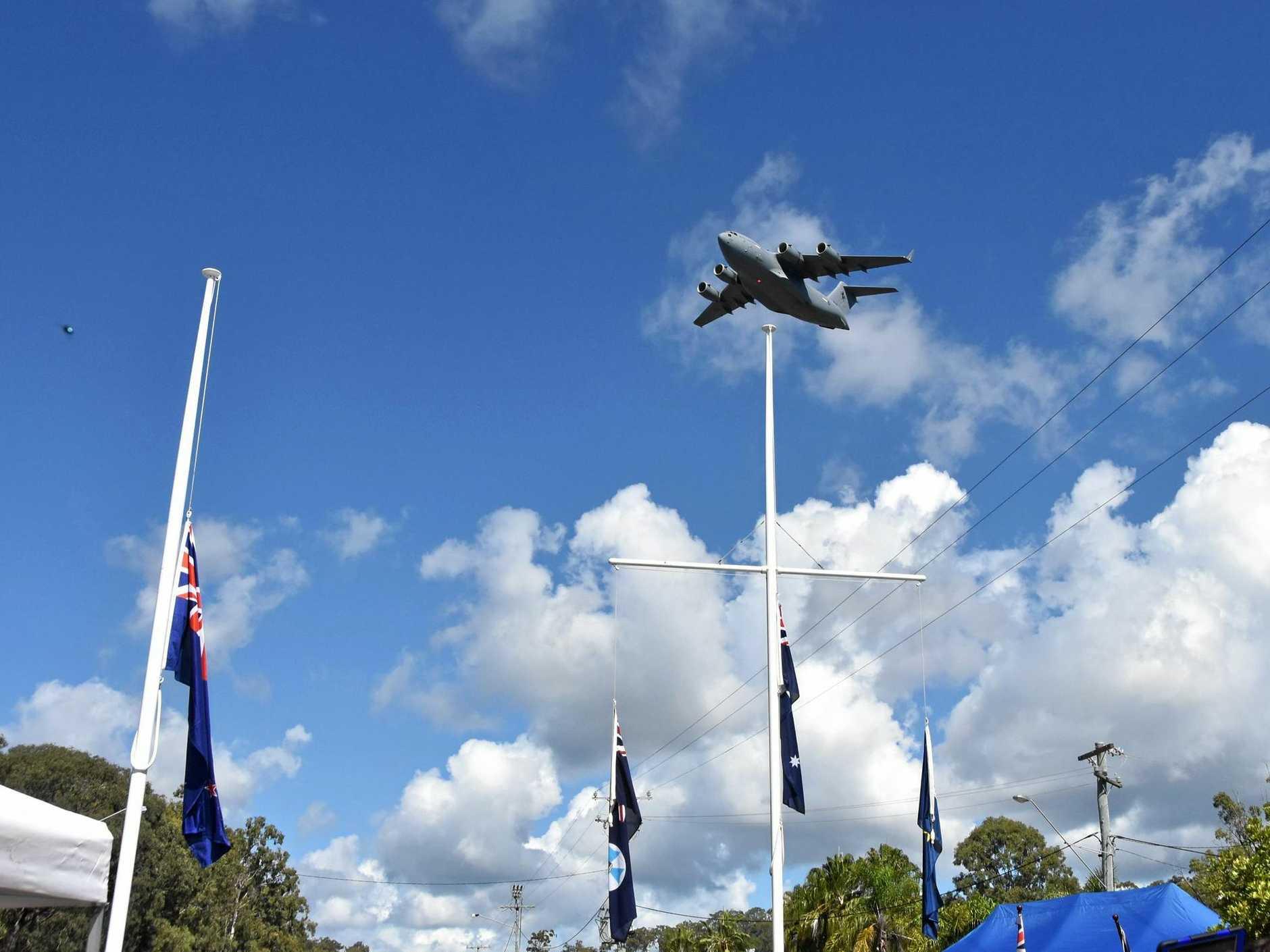 The RAAF C-17A Globemaster.
