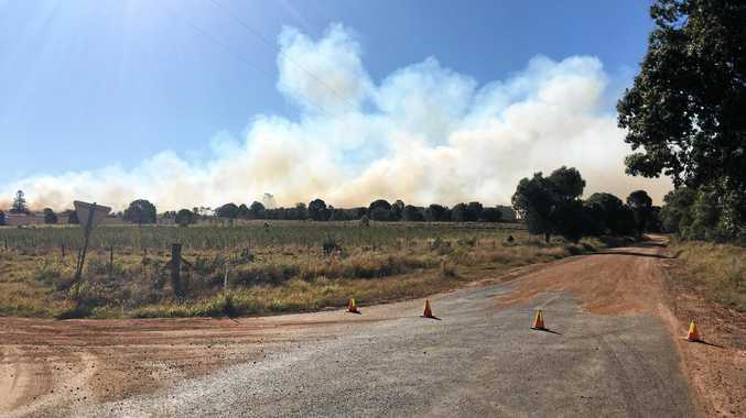 QFES are at the scene of a bushfire at Gregory River
