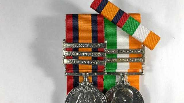 RECOGNITION: Boer War medals, the Queen's South Africa Medal and King's South Africa Medal.