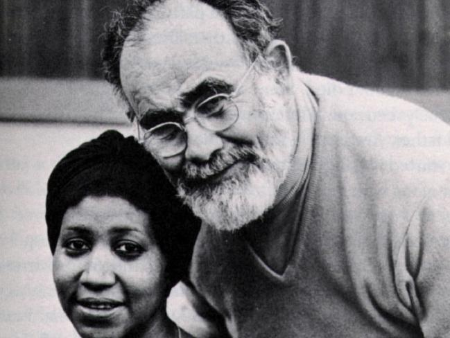Aretha Franklin with her mentor, producer Jerry Wexler.