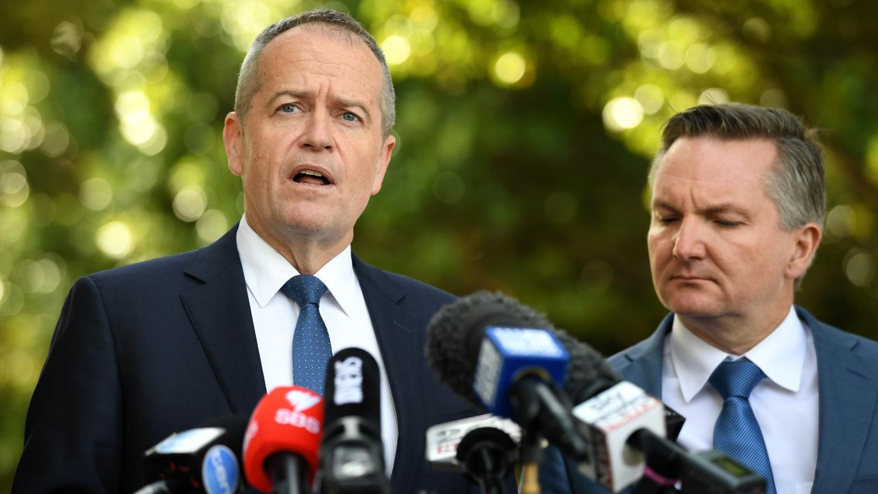 Opposition Leader Bill Shorten (left) with Shadow Treasurer Chris Bowen. Photo: AAP/Joel Carrett