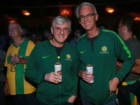 Stephen Lowy with David Gallop at the recent World Cup. Picture: Toby Zerna