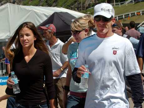 Andy and Lyndie Irons in Newcastle, Australia, in 2004.