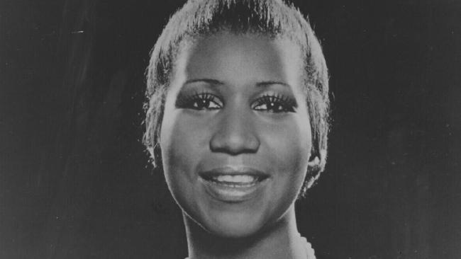 An early photo of Aretha Franklin.