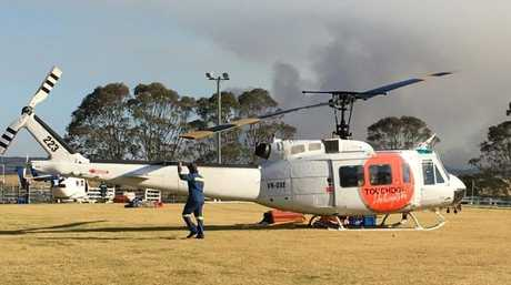 All helicopters involved in fighting fires in the area have been immediately grounded. Picture: Rick Walker