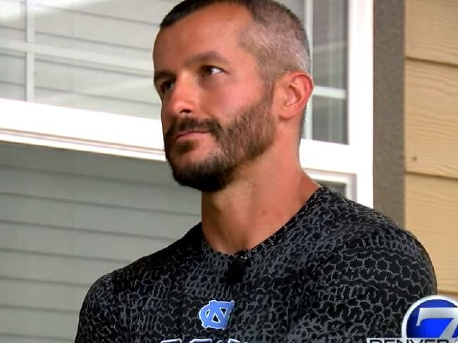A body language expert says Chris Watts may have tried to maintain a poker face during his interviews with Denver TV outlets in a bid appear innocent. Picture: Denver 7