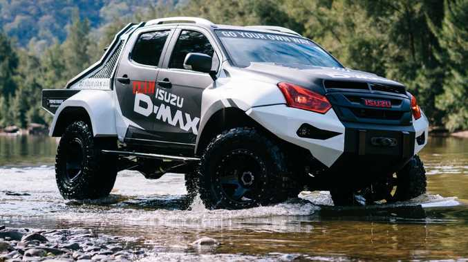 Isuzu has unveiled a monster truck that towers over the latest 'super utes' from Ford and HSV. Picture: Supplied.