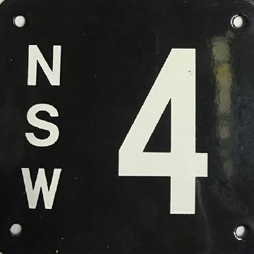 NSW No.4: Numberplate left the cars behind, fetching $2.5m. Picture: Shannons