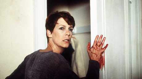 Let's hope scream queen Jamie Lee Curtis has some Spray 'n' Wipe under the sink.