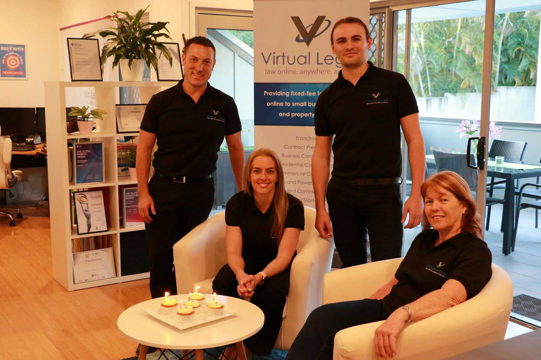 The Virtual Legal team (from left) Shane Lep, Katie Richards, Chris Burling and Meryl Shand.