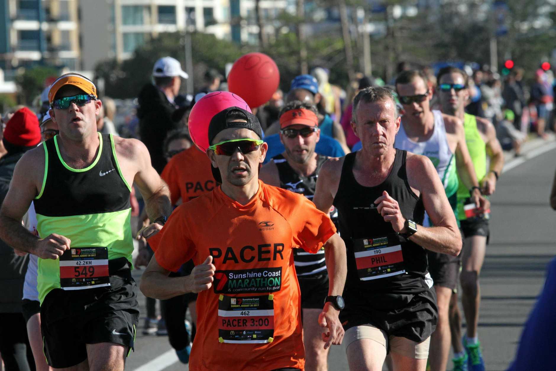 BUSY: Last year's Sunshine Coast Marathon and Community Run Festival.