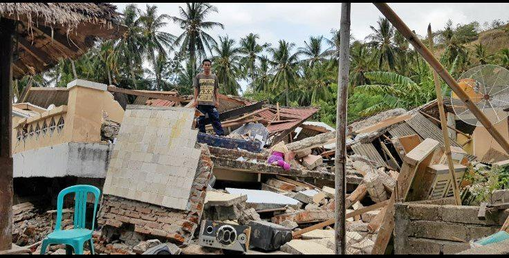 BROKEN buildings are all that remain of once thriving communities on the Indonesian island of Lombok that's been uprooted by a powerful earthquake.