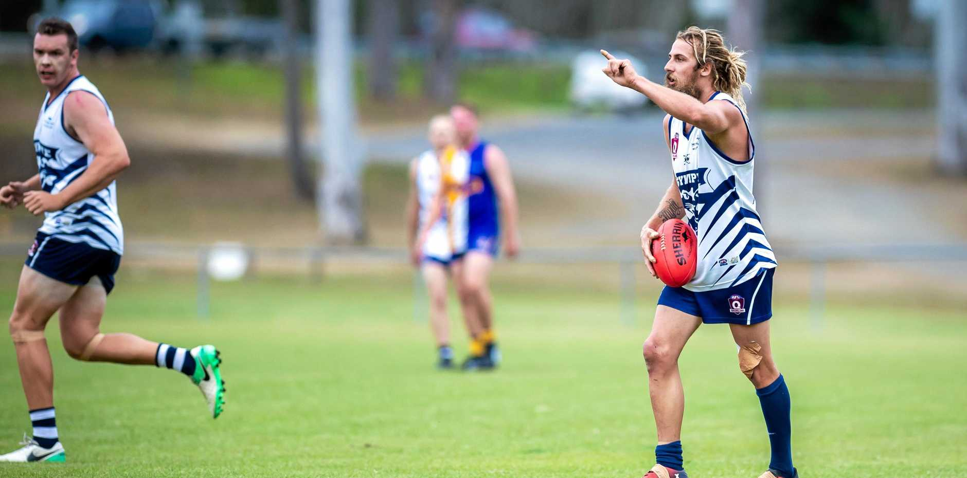 RARING TO GO: Gympie Cats captain Lanze Magin is the key factor in his side's premiership chances this season.