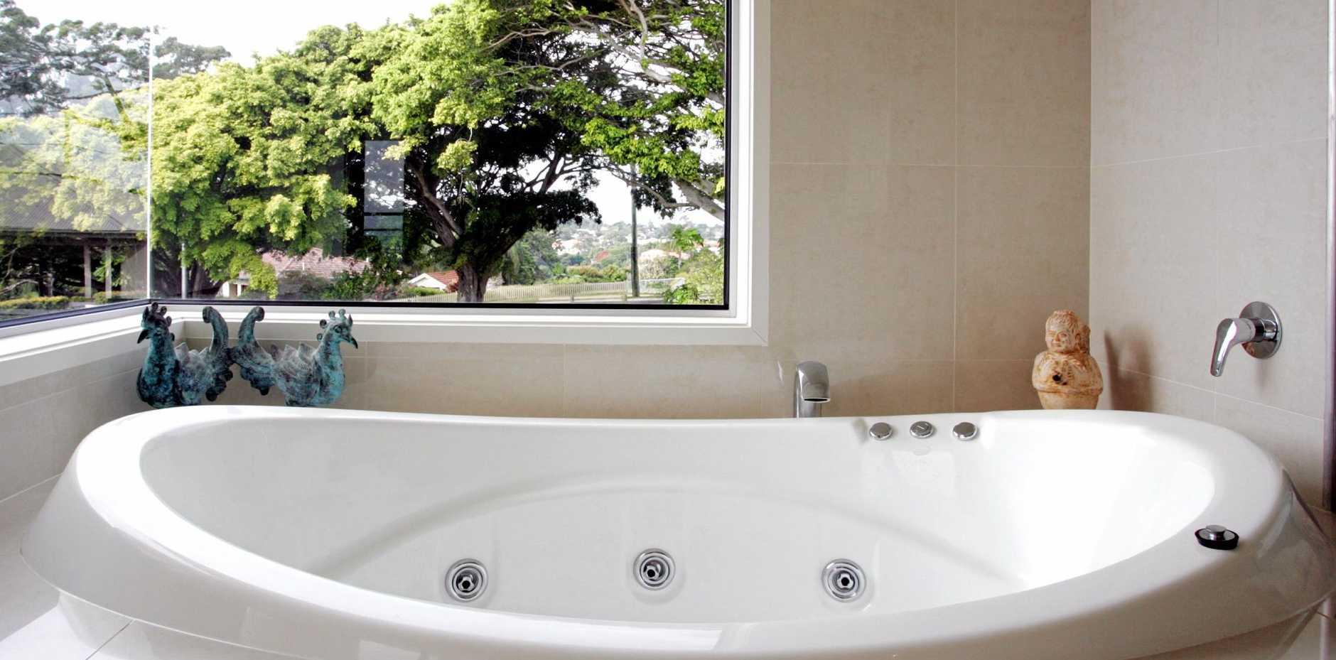 SAFELY RETURNED: A spa bath inside a house, its rightful home (file photo).