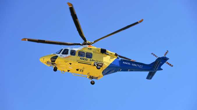 Toddler kicked in face on Mary Valley property airlifted