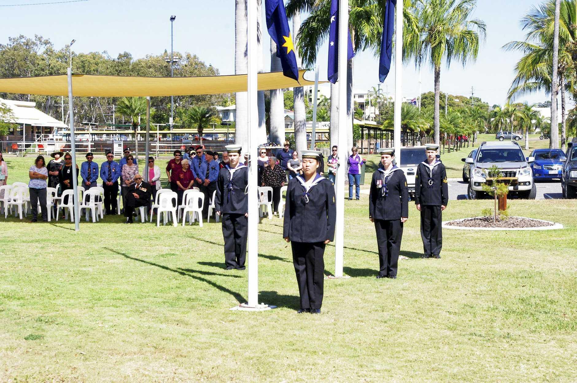 The Vietnam Veteran's Day service held in Gladstone last year.