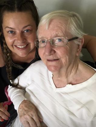 Jane McLaren with her mum Barbara who was injured in the crash.