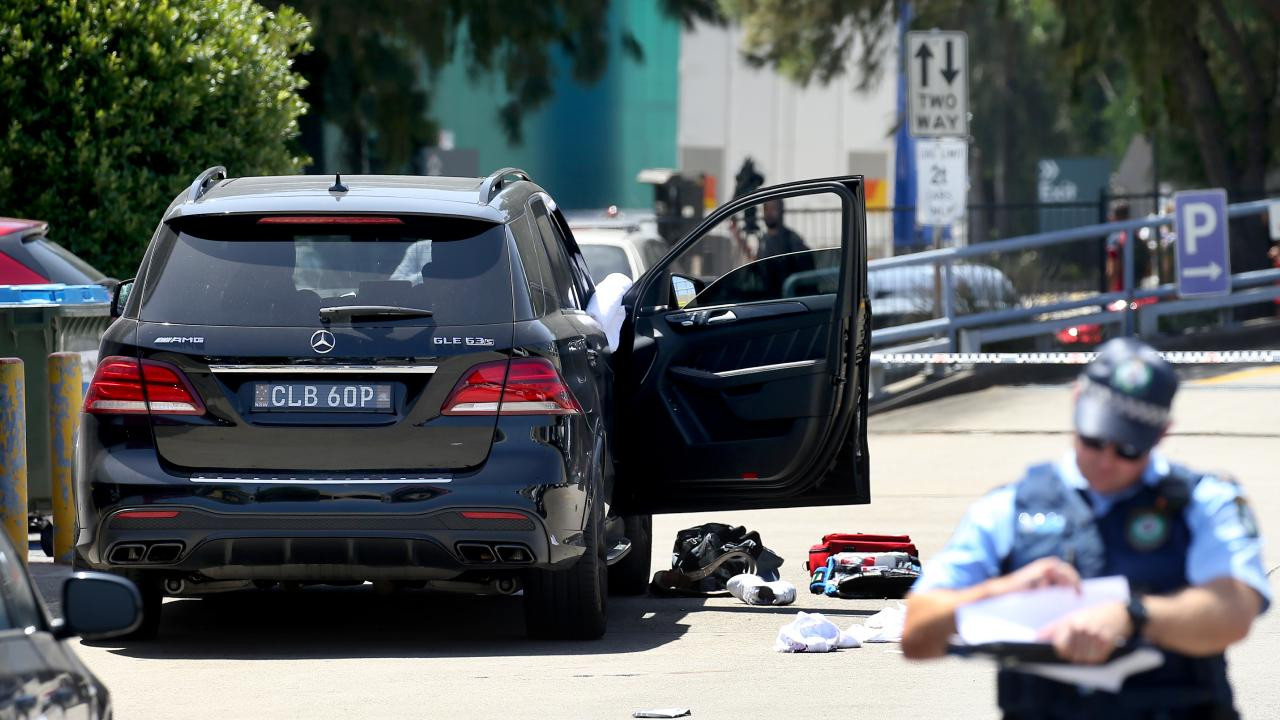 Former bikie boss Mahmoud 'Mick' Hawi has been shot in the car park of a Fitness First gym in Rockdale, Sydney where he suffered multiple heart attacks after being shot. Picture: Toby Zerna
