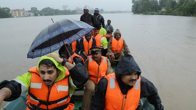 Disaster zone. India has been hit by deadly floods, leaving hundreds dead. Picture: AFP