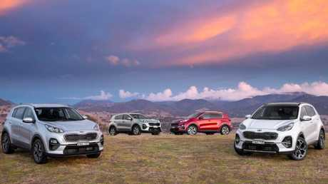 2019 Kia Sportage range: Si, second left. Pay from $30K to $48K