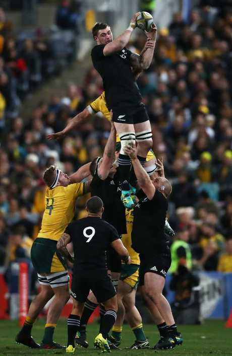 Wallabies lose yet another lineout as Liam Squire dominates. (Photo by Matt King/Getty Images)