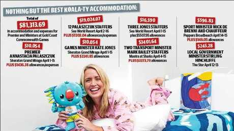 Accommodation for Premier Annastacia Palaszczuk and Games Minister Kate Jones amounted to more than $10,000 each for the Games.